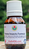 The Home Insects Formula: anti flies, mosquitoes, crawling insects, acarids, arachnids essential oils.
