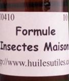 les huiles essentielles utiles la formule insectes maison. Black Bedroom Furniture Sets. Home Design Ideas